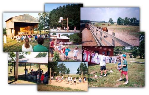 Collage of pictures of the 4-H Rural Life Center