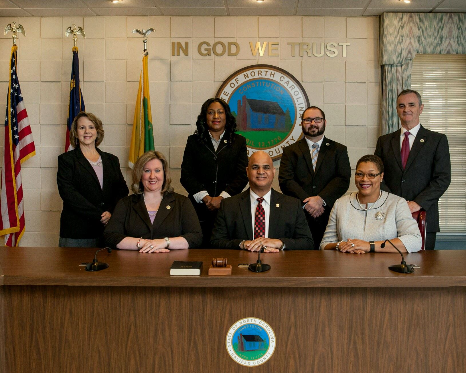 Picture of the seven members of the County Management team